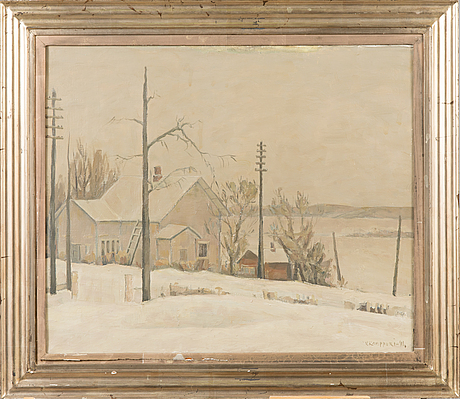 VÄinÖ kamppuri, oil on canvas, signed and dated -41.