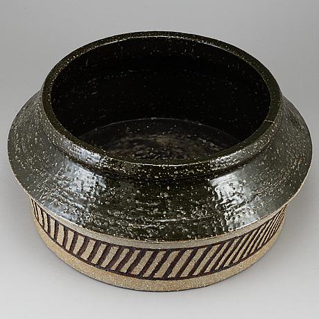 Hertha bengtsson, a stoneware vase, rörstrand, sweden.