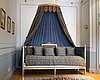 A gustavian style bed.