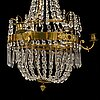 An empire style chandelier, late 20th century.