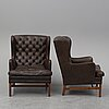 A pair of easy chairs, ope möbler, jönköping, second half of the 20th century.