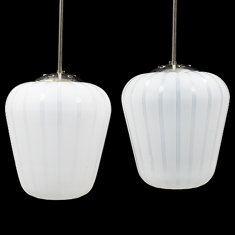 A pair of swedish modern ceiling lamps.