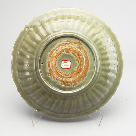 A chinese celadon ming dynasty  dish.