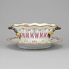 A 'sachsisk blomst' porcelain bowl and dish from royal copenhagen.