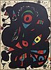 Joan mirÓ, lithograph in colours, signed and numbered 57/100.