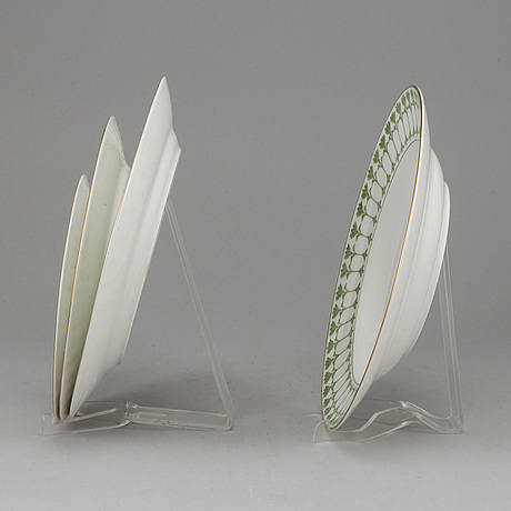 A part 'julia' porcelain dinner service, rörstrand, first half of the 20th century (59 pieces).