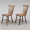 Six chairs by carl malmsten, limited edition, for stolab, 2012.