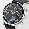 Nivada, grenchen, chronomaster, aviator, sea diver, chronograph, wristwatch, 38,5 mm.