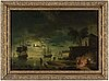 Claude joseph vernet, after. oleograph on panel 48 x 68 cm.