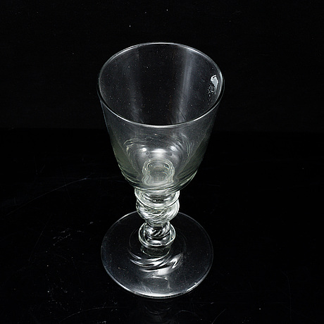 A large glass goblet, possibly 19th century.