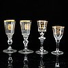 A set of four odd glasses, early 19th century.