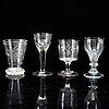 Four glasses, 19th century.