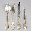 137 psc 830 silver cutlery, jarosinski & vaugoin, vienna and swedish import mark.