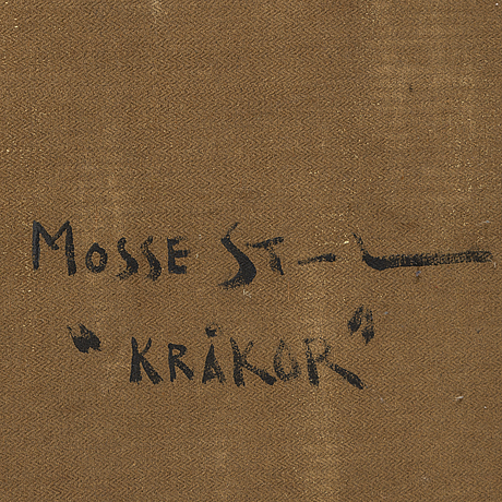 Mosse stoopendaal, oil on canvas, signed and dated 1943.