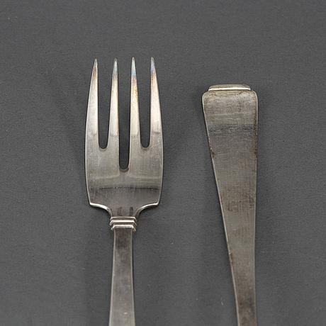 62 psc silver cutlery, koch & bergfeld, bremen, also with swedish import mark.