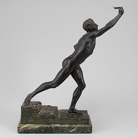 "Max kruse, sculpture, bronze, "" ""the herlad of victory""."
