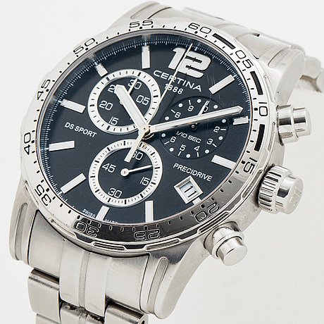 Certina, ds sport, precidrive, wristwatch, chronograph, 42 mm.