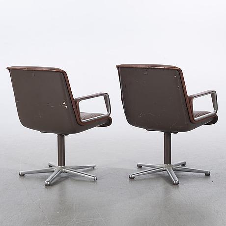 Wilkhahn, kontorsstolar, 1 par, nr 276/6, västtyskland, 1960/70-tal.