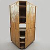 A gustavian painted pine corner cabinet, first half of the 19th century.