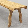 A pine bench, late 19th century.