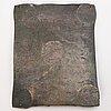 A swedish copper plate, 2 daler silvermynt, fredrik i 1725.