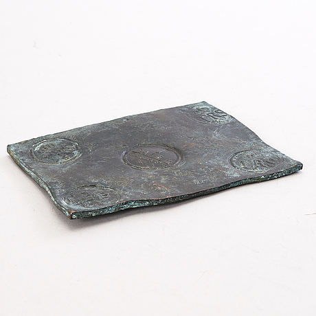 A swedish copper plate, 1 daler silfver mynt, fredrik i 1747.