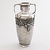 An early 20th-century silver plated jugend style vase.