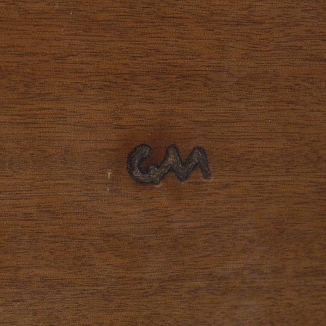 Carl malmsten, a walnut veneered inlay coffee table, probably 1940's.