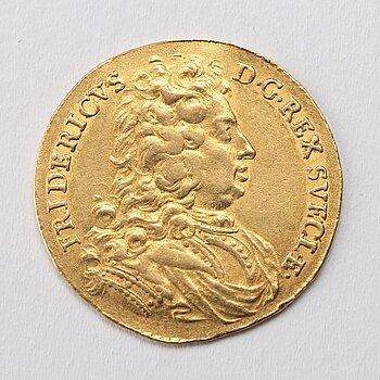 GULDMYNT, dukat, Fredrik I av Sverige, 1720, vikt 3,47 gram.