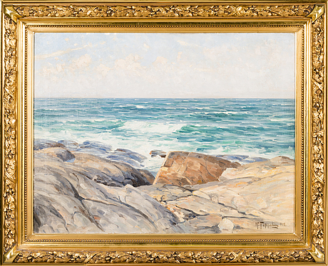 Woldemar toppelius, oil on canvas, signed and dated 1918.