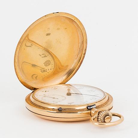 Iwc, pocket watch, hunter, 53 mm.