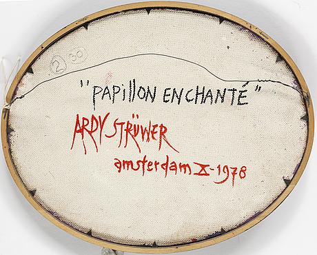Ardy strÜwer, olja på pannå, signerad och daterad 78.