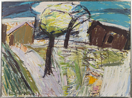 Ulla virta, oil on canvas, signed and dated -81.