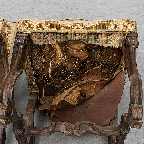 A pair of 18th century chairs.