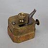 Koppar för koppning, 7 st samt åderlåtare, 1800-tal.