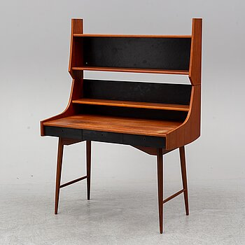 JOHN TEXMON, A teak veneered 'Ola-pulten' desk with bookcase, Blindheim Møbelfabrikk, 1950's.