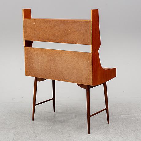 John texmon, a teak veneered 'ola-pulten' desk with bookcase, blindheim møbelfabrikk, 1950's.