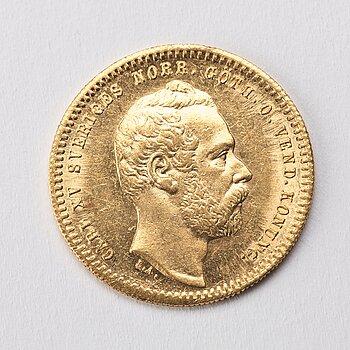 GULDMYNT, 1 Dukat, Karl XV av Sverige och Norge, 1860.