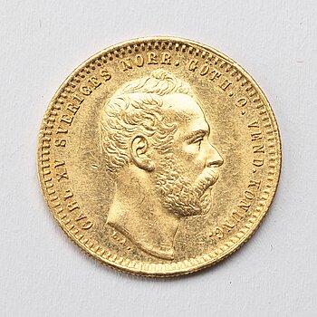GULDMYNT, 1 Dukat, Karl XV av Sverige och Norge, 1866.