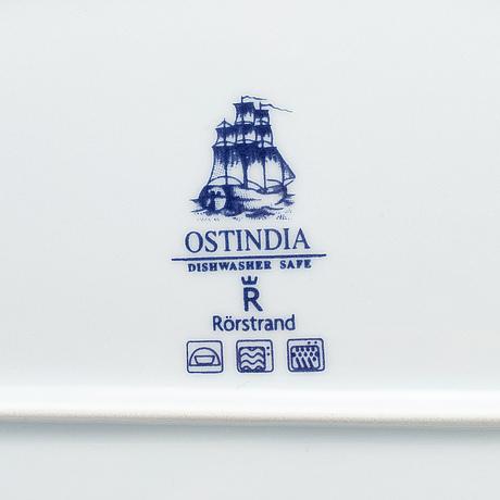 """RÖrstrand, servisdelar, 51 st, """"ostindia"""", porslin."""
