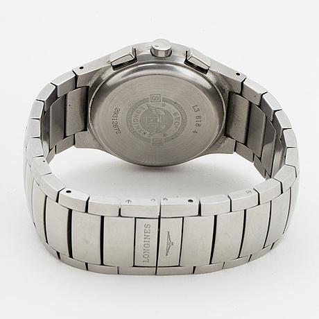Longines, oposition, chronograph, wristwatch, 38 mm.