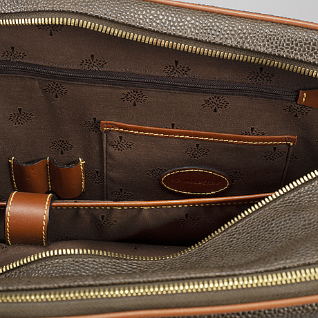 Mulberry, a briefcase.