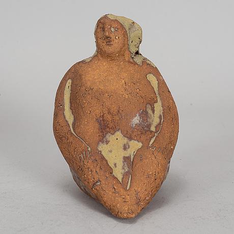 Lisa larson, a unique signed stoneware figurine.