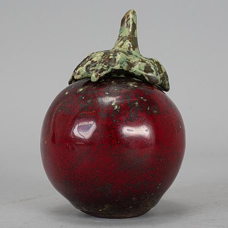Hans hedberg, a ceramic fruit, biot, france, signed.