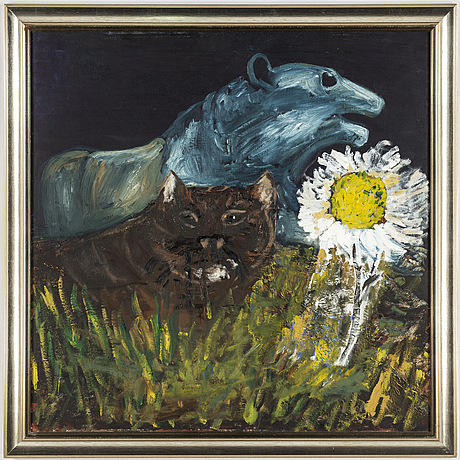 Hans wigert, oil on canvas, on verso signed and dated stavsnäs 1993-2014.