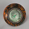Hans hedberg, a singed stoneware bottle, biot, france.