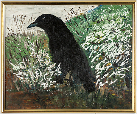 Hans wigert, oil on canvas, on verso signed and dated grundsunda 2001.