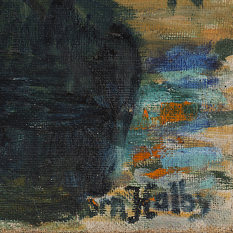 BjÖrn halby, oil on canvas, signed and dated 1938.