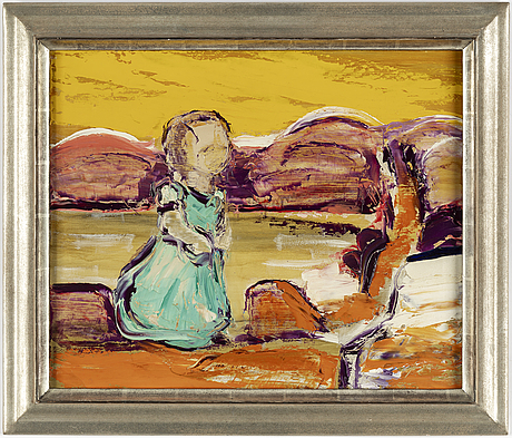 Gunnar lÖberg, oil on panel, signed and dated on verso 1949.