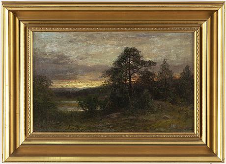 Severin nilson, oil on canvas/paper-panel, signerad.